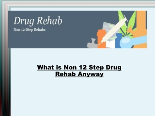 What is Non 12 Step Drug Rehab Anyway