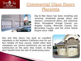 Placentia Commercial Garage Door Service