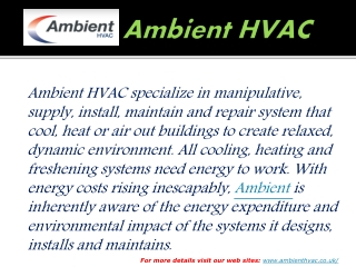 Know about air conditioning,Heating,Ventilation Services at