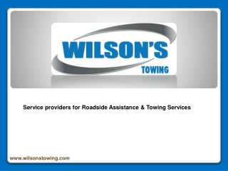 Service providers for Roadside Assistance