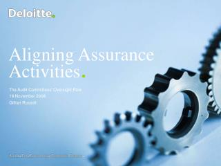 Aligning Assurance Activities.