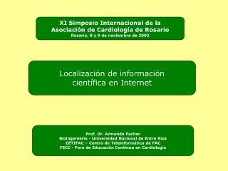 Localización de información científica en Internet