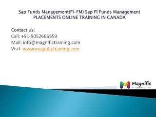 Sap Funds Management (FI-FM)placements training canada