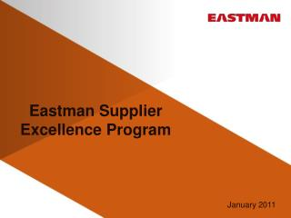 Eastman Supplier Excellence Program