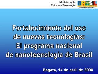 Bogotá, 14 de abril de 2008