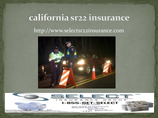 california sr22 insurance