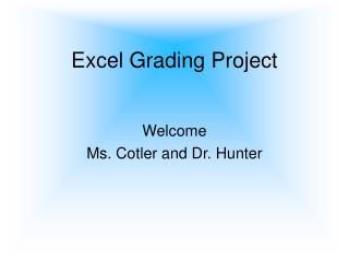 Excel Grading Project