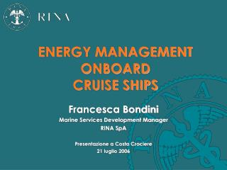 ENERGY MANAGEMENT ONBOARD 