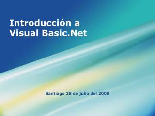 Introducción a Visual Basic.Net