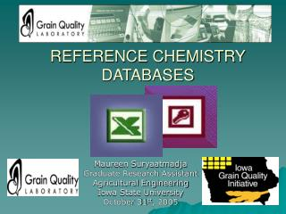 REFERENCE CHEMISTRY DATABASES