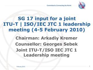 ITU-T SG 17 role and mandate