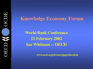 Knowledge Economy Forum