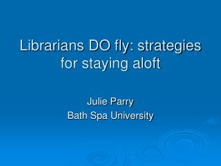 Librarians DO fly: strategies for staying aloft
