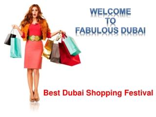Best Dubai Shopping Festival