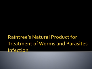 Natural Treatment for Parasites