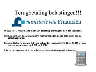 Belastingaangifte 2008 PPS