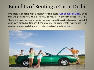Benefits of Renting a Car in Delhi