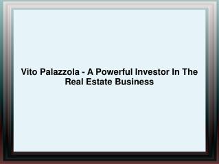 Vito Palazzola - A Powerful Investor