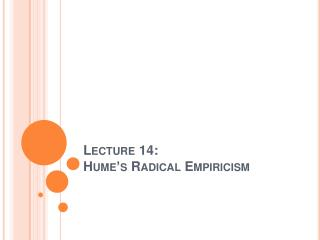 Lecture 14:  
