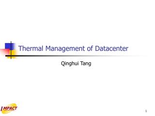 Thermal Management of Datacenter