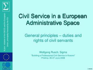 Civil Service in a European Administrative Space