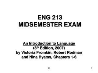 ENG 213  MIDSEMESTER EXAM