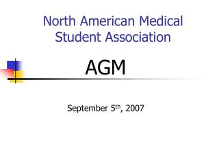 North American Medical Student Association