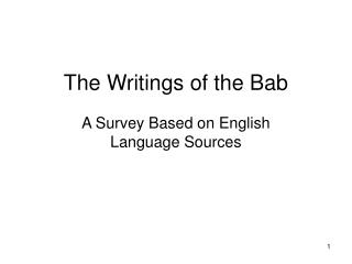 The Writings of the Bab