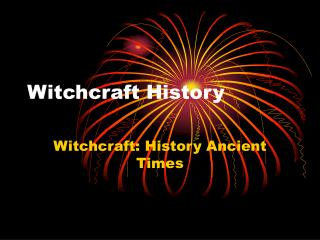 Witchcraft History