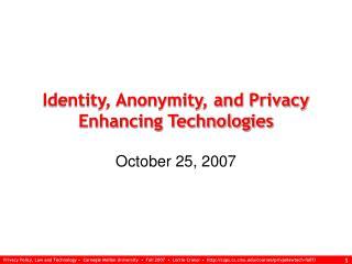October 25, 2007
