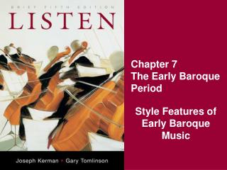Chapter 7 The Early Baroque Period