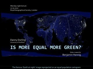 Is more equal more green?