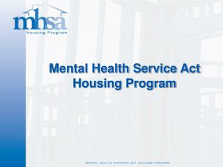 Mental Health Service Act 