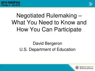 David BergeronU.S. Department of Education