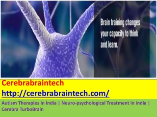 Autism Therapies in India | Neuro-psychological Treatment in