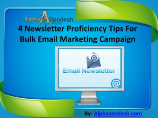 4 Newsletter Proficiency Tips For Bulk Email Marketing