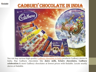Cadbury Chocolates stores in India