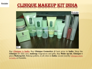 Clinique Cosmetics Products India