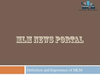 MLM News Portal