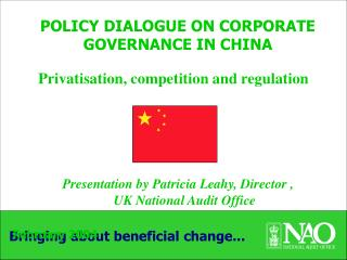 POLICY DIALOGUE ON CORPORATE GOVERNANCE IN CHINA