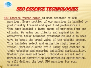 Top 5 ranking in google at SEoessence Technology