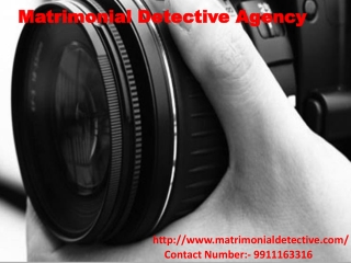 Find the Matrimonial Detective Agency in India