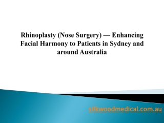 Rhinoplasty (Nose Surgery) — Enhancing Facial Harmony to Pat
