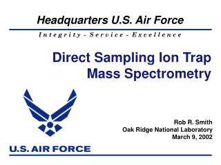 Direct Sampling Ion Trap Mass Spectrometry