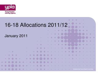 16-18 Allocations 2011/12