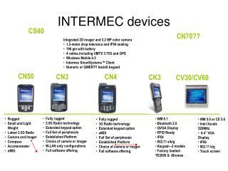 INTERMEC devices