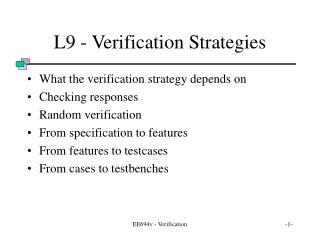 EE694v - Verification