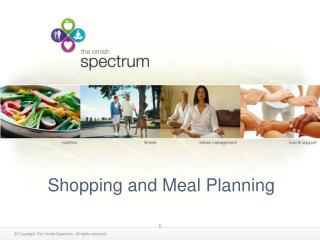 Shopping and Meal Planning