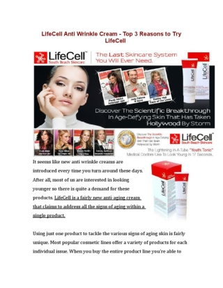 Why Should You Buy Lifecell Anti-Aging Skin Cream?