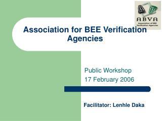Association for BEE Verification Agencies
